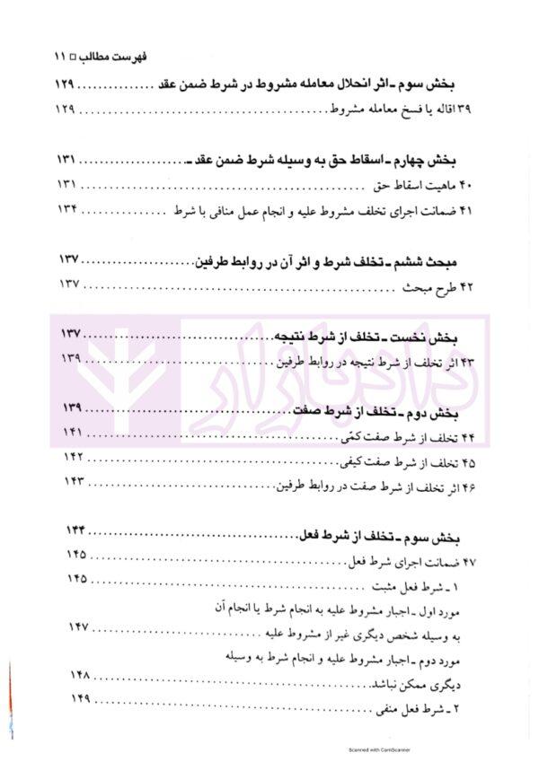 شروط ضمن عقد (حقوق مدنی 4) | دکتر شهیدی