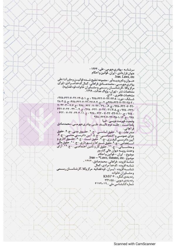 مجموعه تنقیح شده قوانین و مقررات، دفتر هفتم: حقوق ثبت