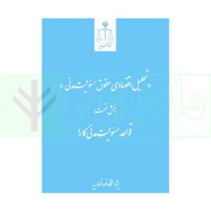 کتاب تحلیل اقتصادی حقوق مسئولیت مدنی (بخس نخست قواعد مسئولیت مدنی کارا) شکوهیان و ادریسیان