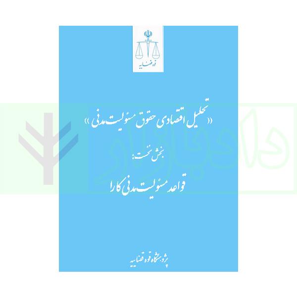 تحلیل اقتصادی حقوق مسئولیت مدنی (بخس نخست: قواعد مسئولیت مدنی کارا) | شکوهیان و ادریسیان